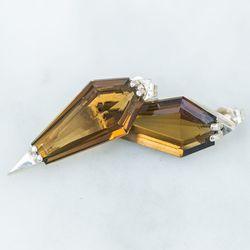 AEA citrine dagger earrings, $620