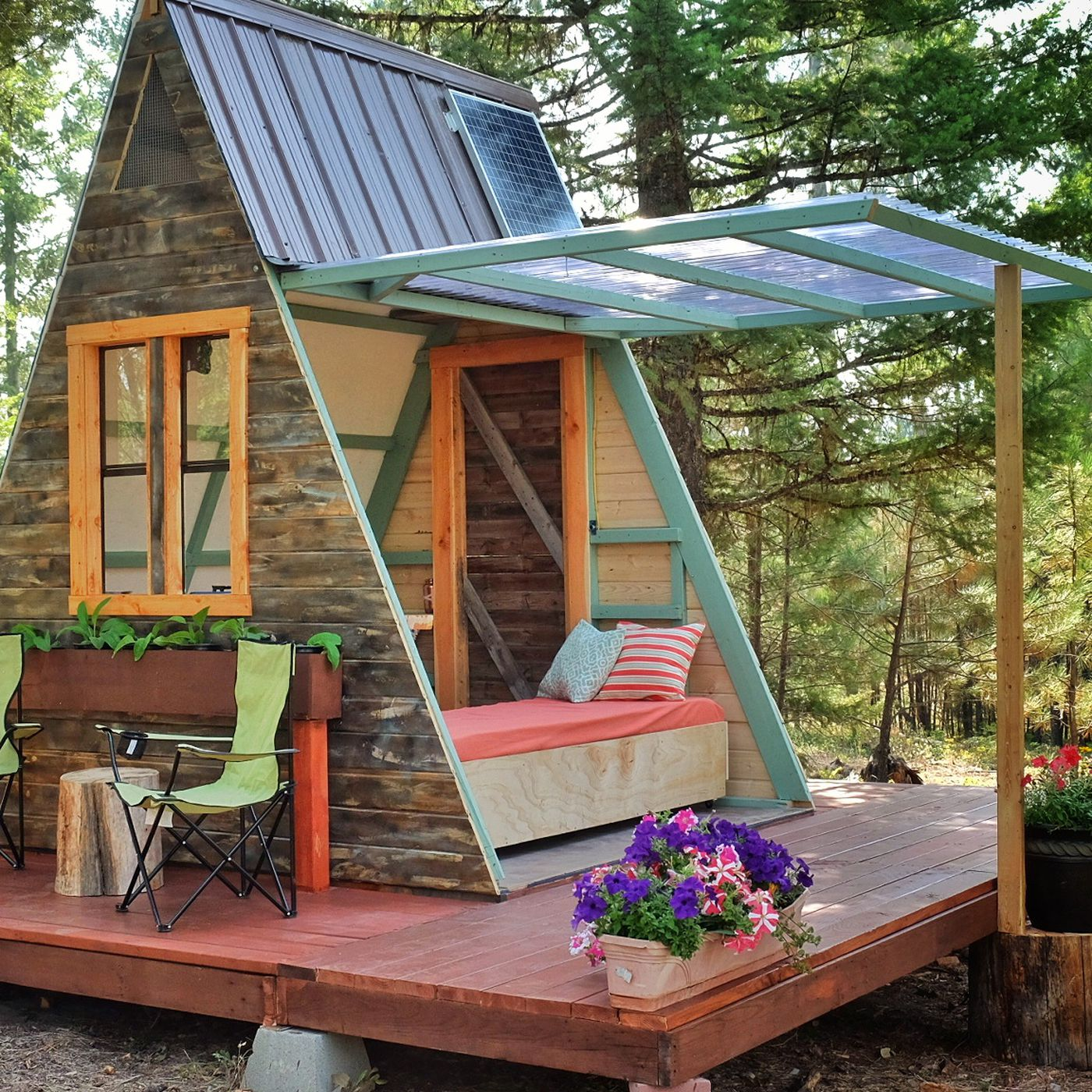 Tiny A-frame cabin costs just $700 to build - Curbed