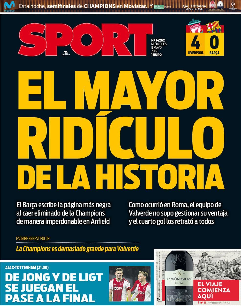 How the papers reacted to Barcelona's Champions League exit