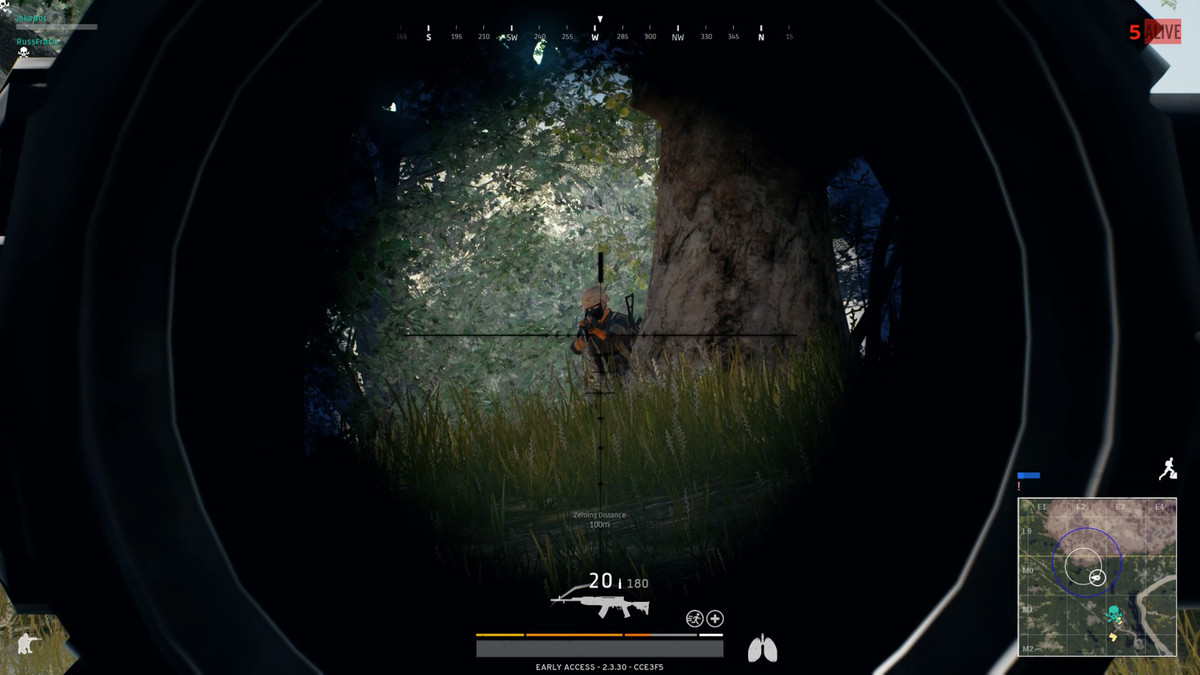 An Image Of Aiming Down The Sights Of A Scope In Playerunknowns Battlegrounds