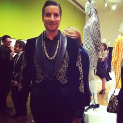 Cameron Silver never ceases to impress us with his swagger. Here he is sporting a sweet Chanel blazer.
