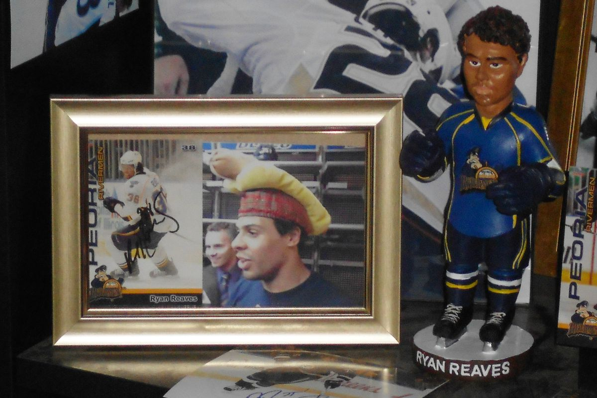 Ryan Reaves memorabilia, including the now famous Reaves (Peoria) Bobble-fist