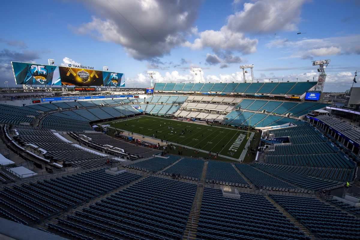 General view of the stadium prior to the game between the Jacksonville Jaguars and the Tennessee Titans at TIAA Bank Field.