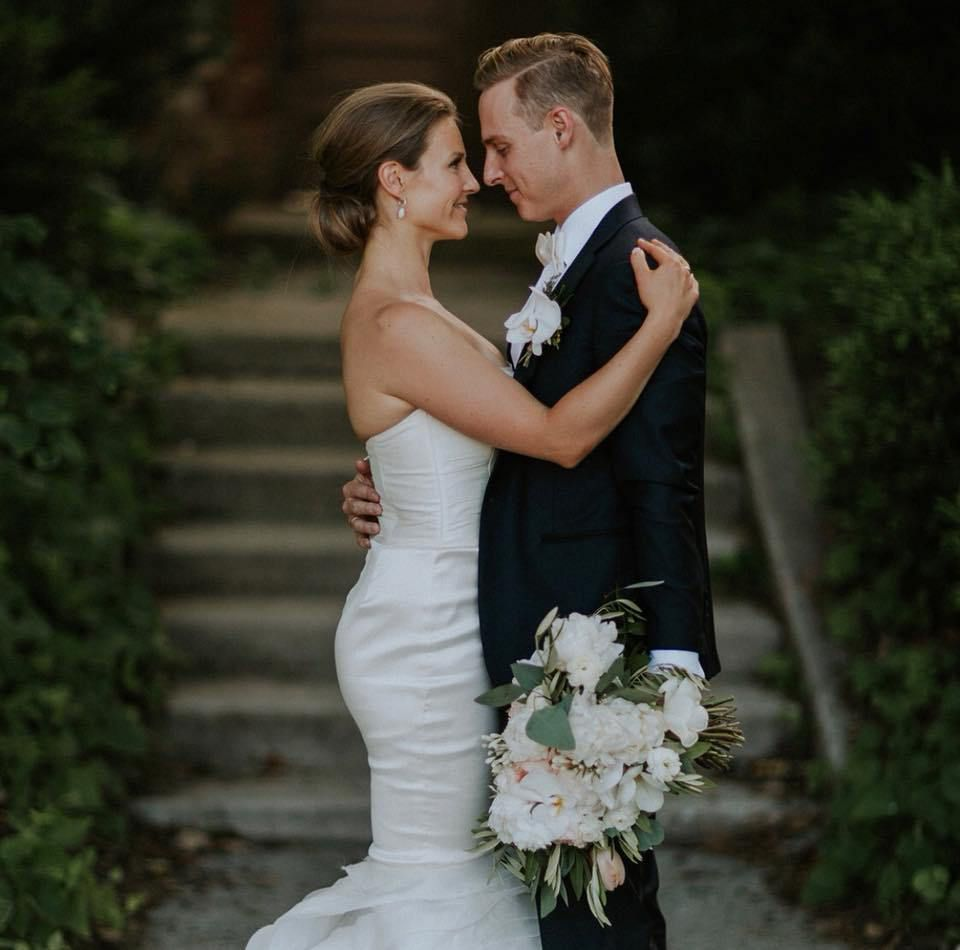 Tatiana Mirutenko and James Hoover on their wedding day in 2017.