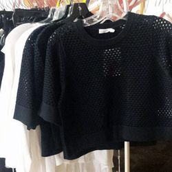 A.L.C. perforated crop top for $186.