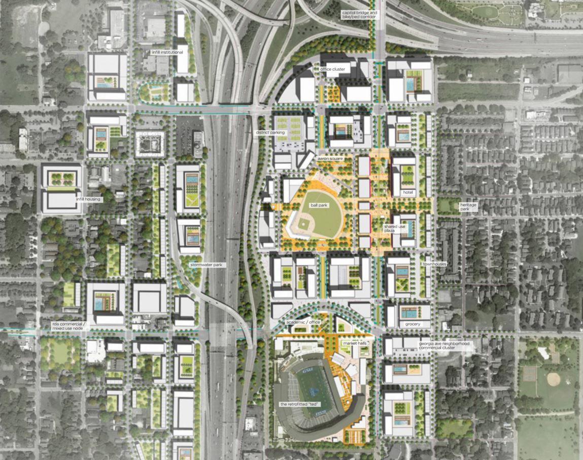 "The ""Ballpark Plaza"" scheme."