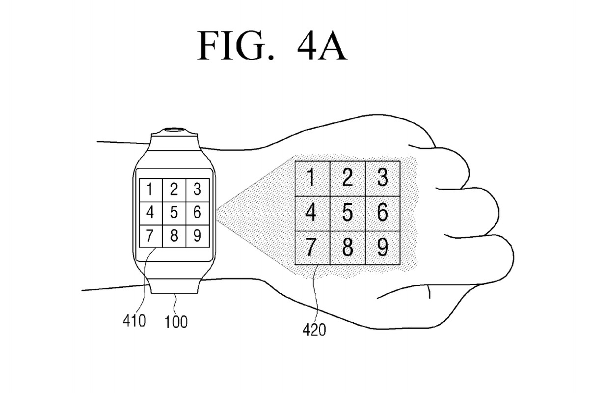 samsung imagines smartwatch that projects a screen onto