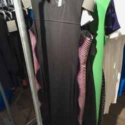 Black dress with python skin sides, $748 (was $2,990)