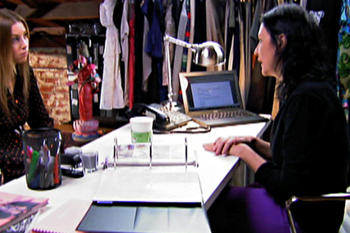 "Whitney Port with Kelly Cutrone. Screenshot via <a href=""http://www.mtv.com/photos/season-4-episode-18-dream-boy-dream-job/1600949/3456894/photo.jhtml#3456894"">MTV</a>"