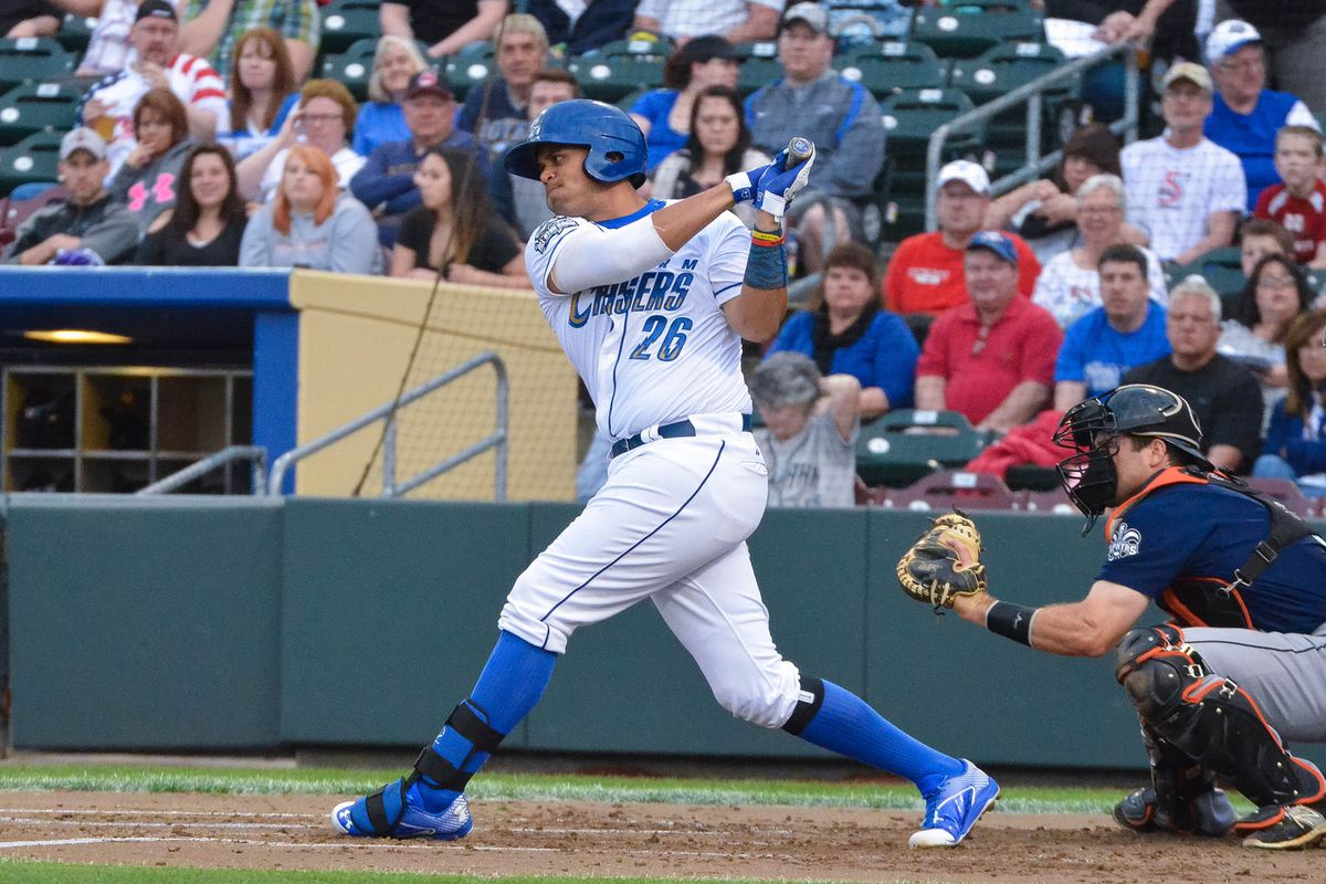 Francisco Pena is making the most of his shared playing time for Omaha.