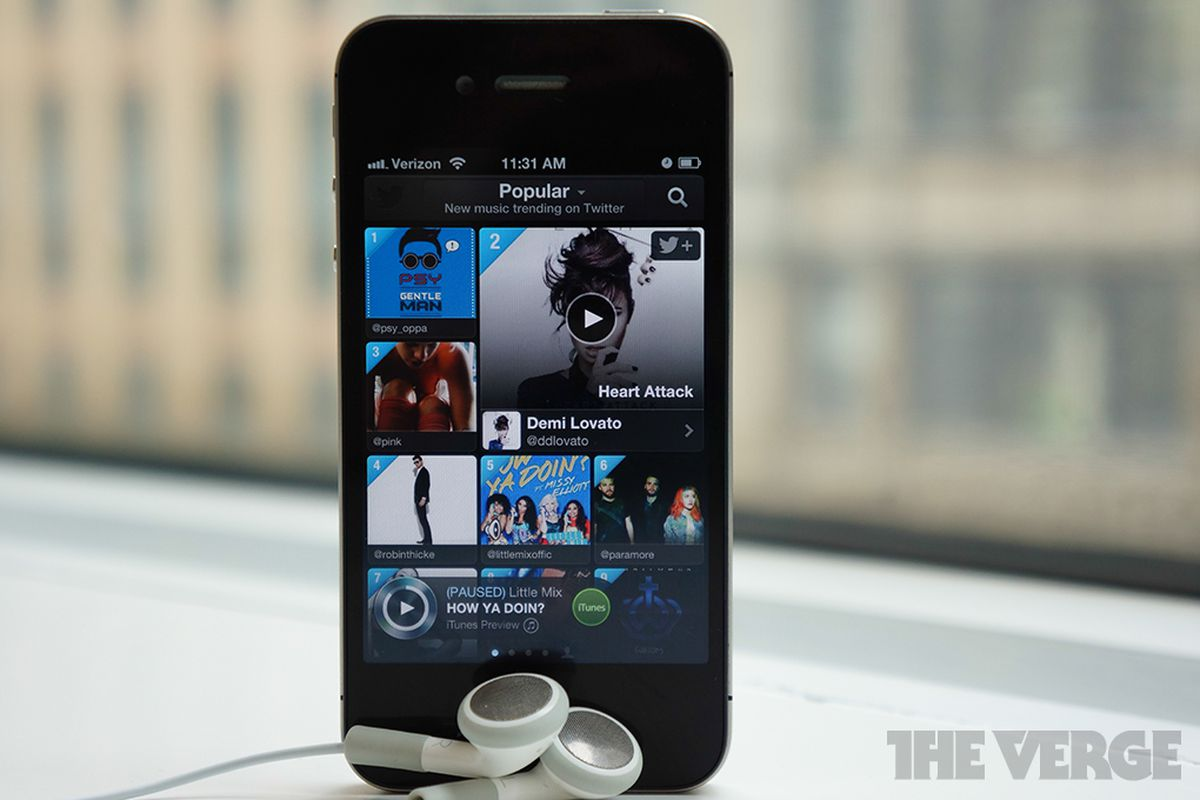 twitter music iphone