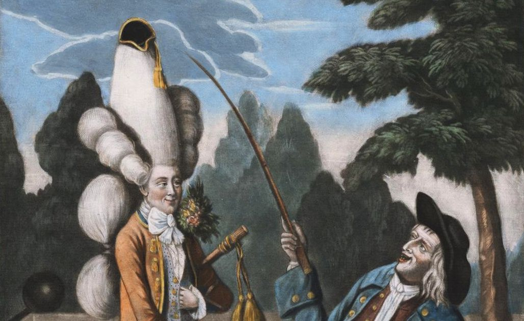 A macaroni caricature from 1774