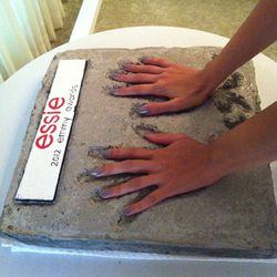 ...complete with a mock handprint ceremony!
