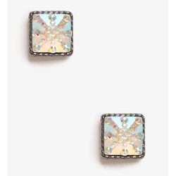 """<b>Forever 21</b> Iridescent Brust Swuare Studs in pink/dark grey, <a href=""""http://www.forever21.com/Product/Product.aspx?BR=f21&Category=acc_earrings_stud&ProductID=1030812717&VariantID="""">$2.80</a>"""