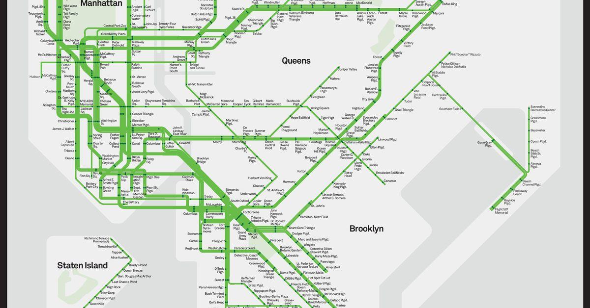 Park Slope Brooklyn Subway Map.Nyc S Subway Map Gets A Park Friendly Makeover Curbed Ny