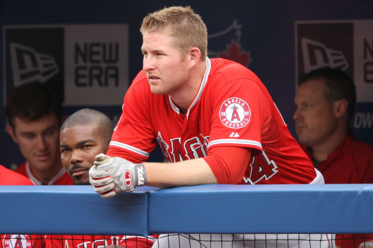 Mark Trumbo hits 'em further than Howie Kendrick because he's a foot and a half taller.