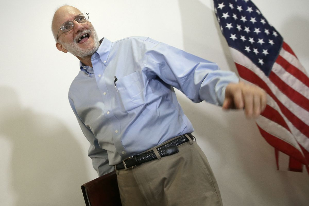Alan Gross at a press conference in DC, shortly after his release.