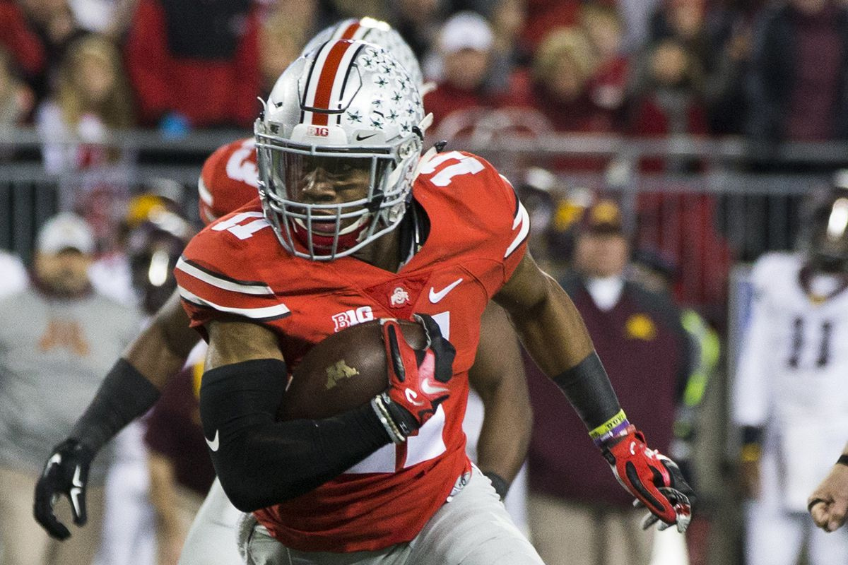Ohio State safety Vonn Bell got the scoring started on Saturday night with his interception for a touchdown.