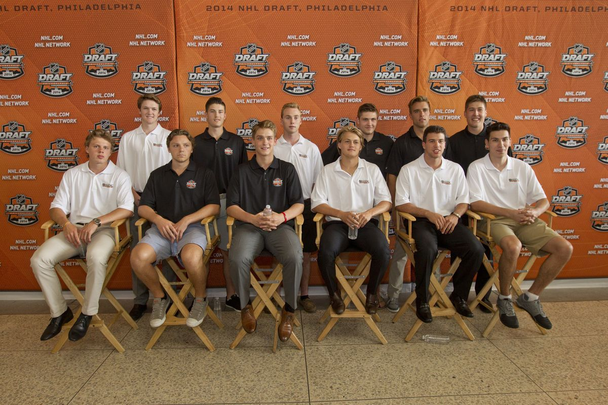 Ducks first round pick, Nick Ritchie (Top Right)