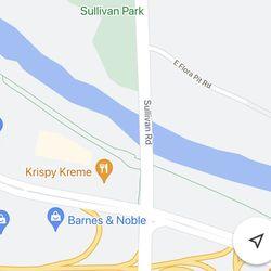 <em>The path on Google Maps.</em>