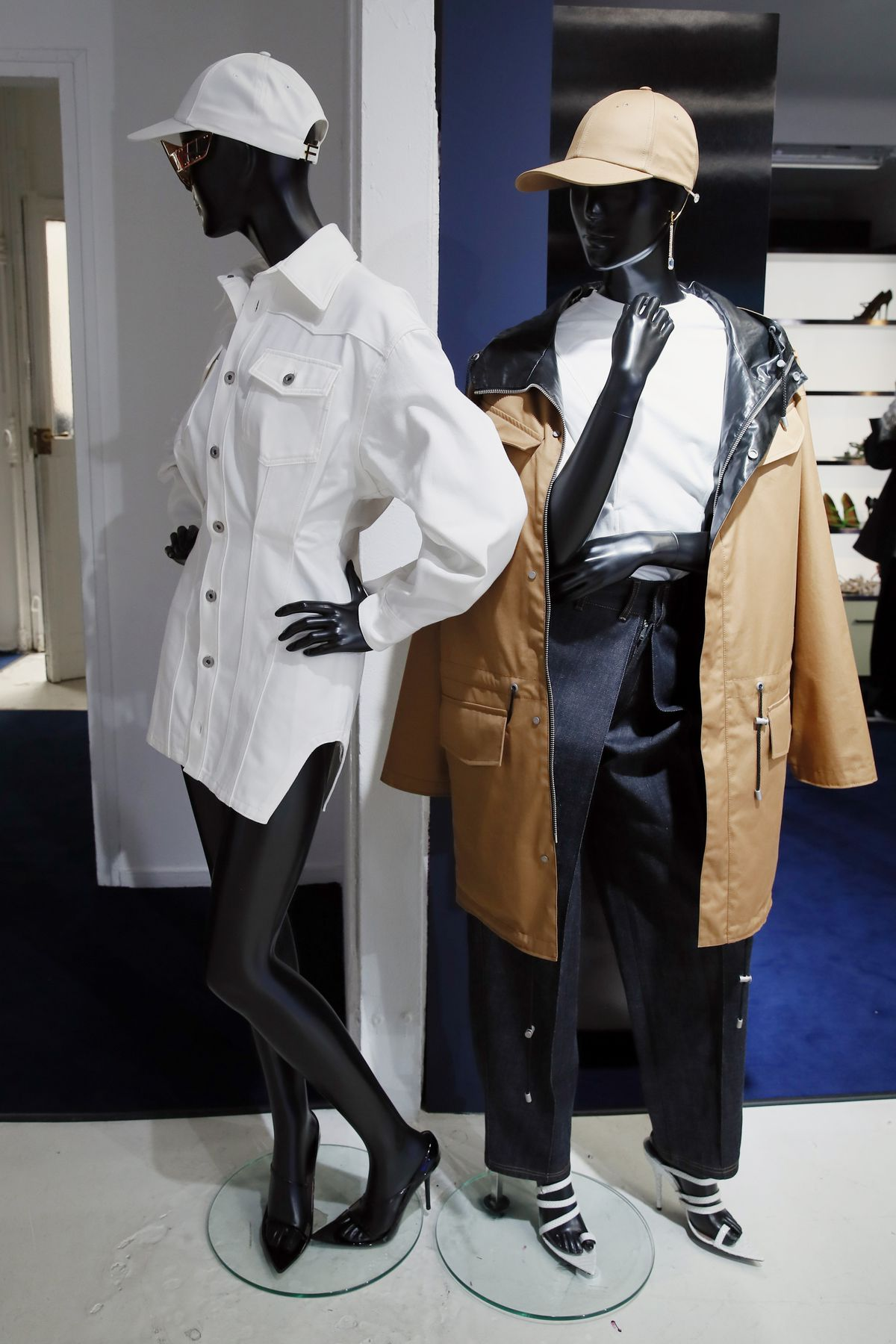 Creations are displayed as Rihanna unveiled her first fashion designs for Fenty at a pop-up store in Paris, France, Wednesday, May 22, 2019. Fenty says the brand will be based in Paris, like its parent company, conglomerate LVMH, but will operate from a d