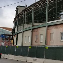 Work on Addison near the marquee