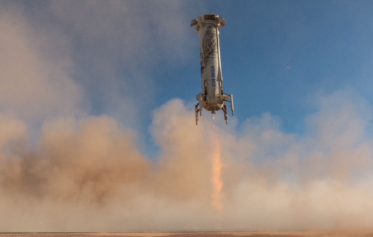 Blue Origin successfully launches and lands its New Shepard rocket