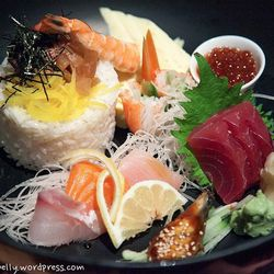 """Chirashi at Oga's Japanese Cuisine (Natick) by  <a href=""""http://www.flickr.com/photos/lala010/"""">lala010</a>."""