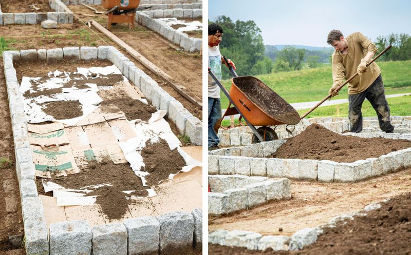 Summer 2021, Landscaping, vegetable and herb garden, installation