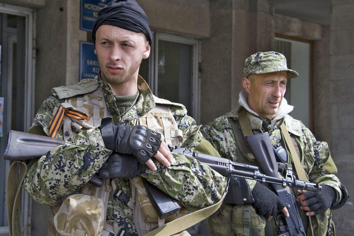 Pro-Russian Ukrainian separatists.