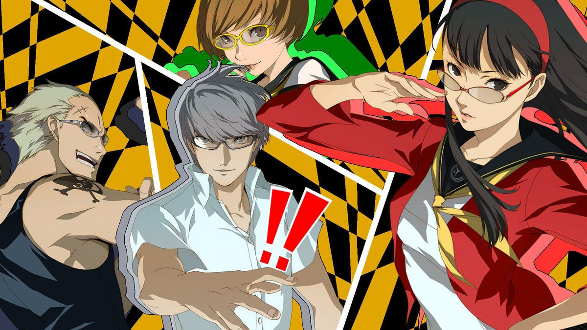 all out attack from persona 4 golden, featuring kanji, chie, yukiko and the protagonist.
