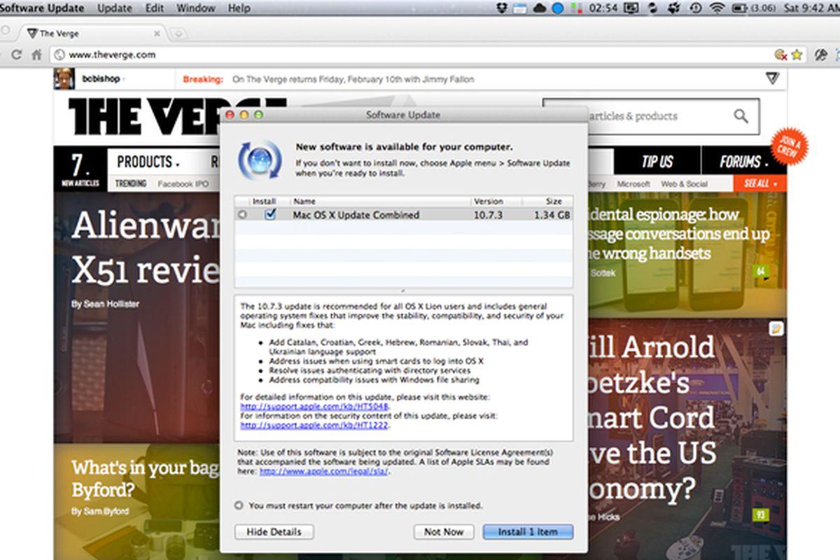 Mac OS X 10.7.3 Combo Update