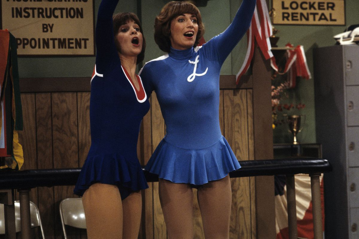 Penny Marshall, with Cindy Williams, as Laverne DeFazio.
