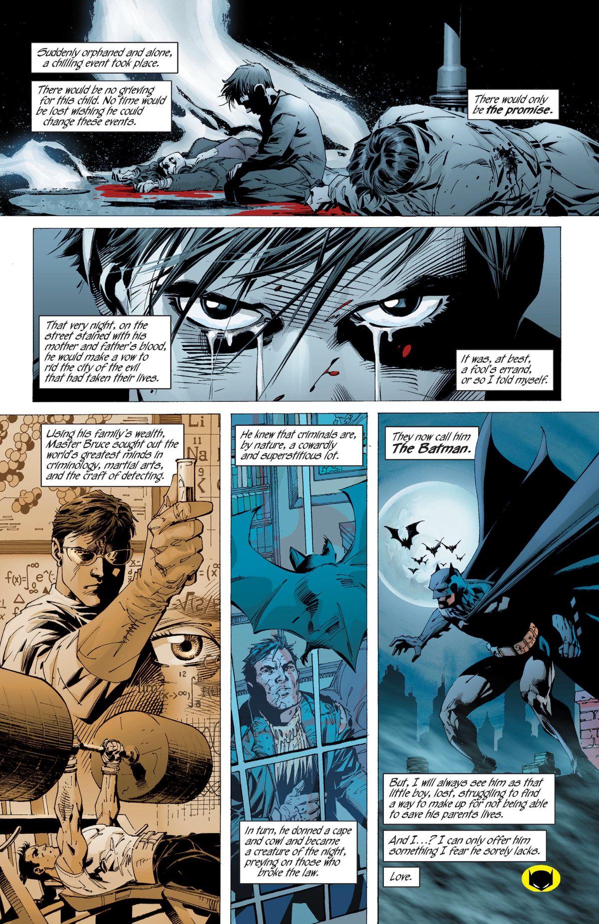 Batman's origin story in Batman: Hush, DC Comics (2002).