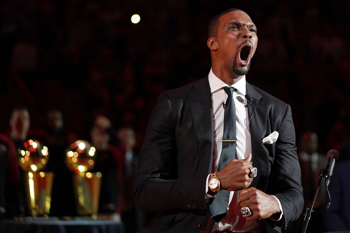 75cf80fbd38 Everything about Chris Bosh's Heat jersey retirement ceremony was perfect