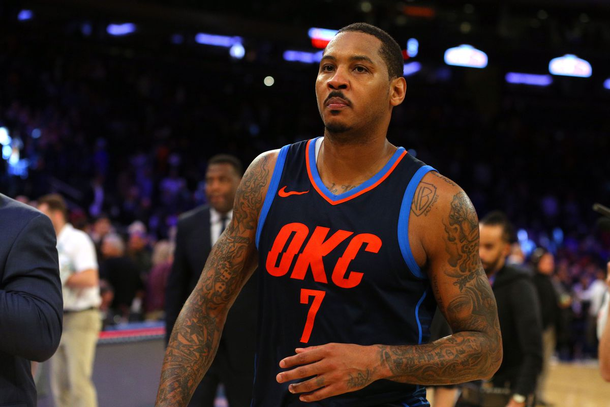 Nba Scores 2017 The Knicks Rained On Carmelo Anthony S