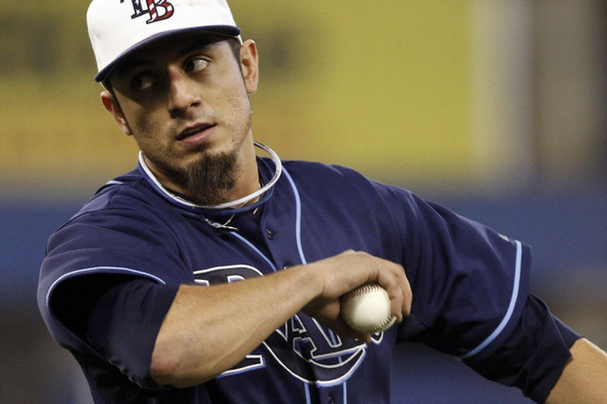 TORONTO - MAY 31: Matt Garza #22 is the only Rays player drafted in the first round outside of the Top 10 (25th). Hopefully the Rays can get that production from the 17th pick this year. (Photo by Abelimages/Getty Images)