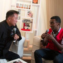 Marcus Samuelsson and Martin Yan in the illy room.