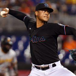 Elieser Hernandez, Marlins starting pitcher on Wednesday