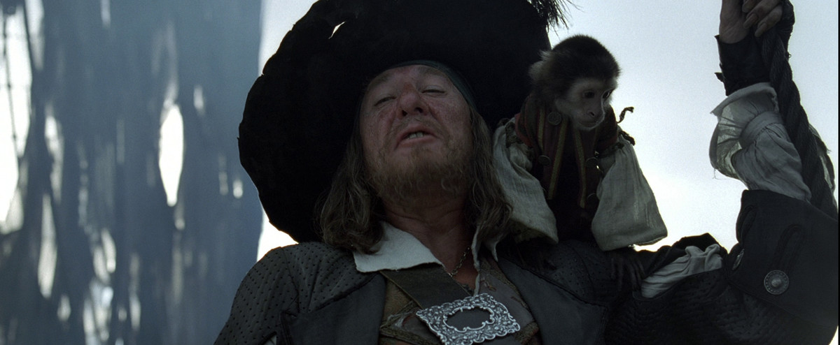hector barbossa in the curse of the black pearl