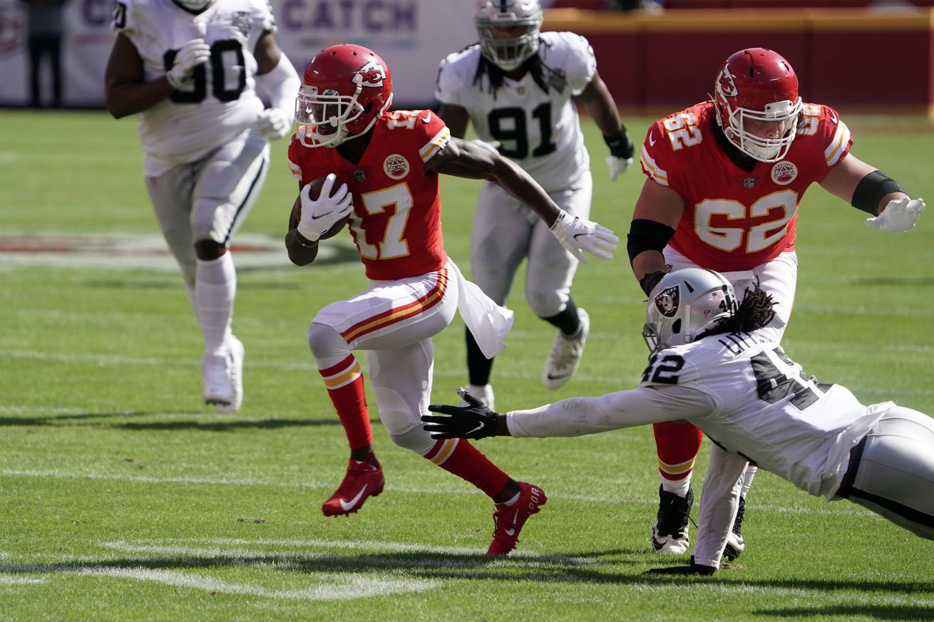 NFL: Las Vegas Raiders at Kansas City Chiefs