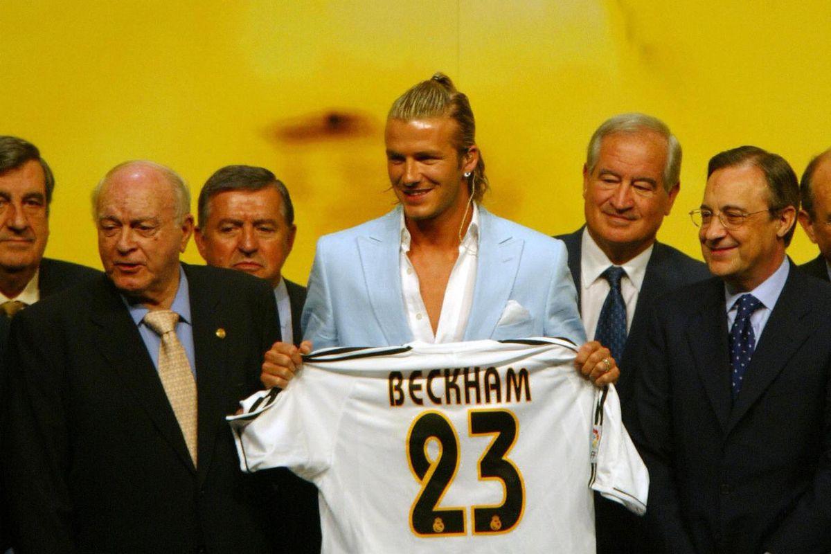 British soccer star, David Beckham (C) p