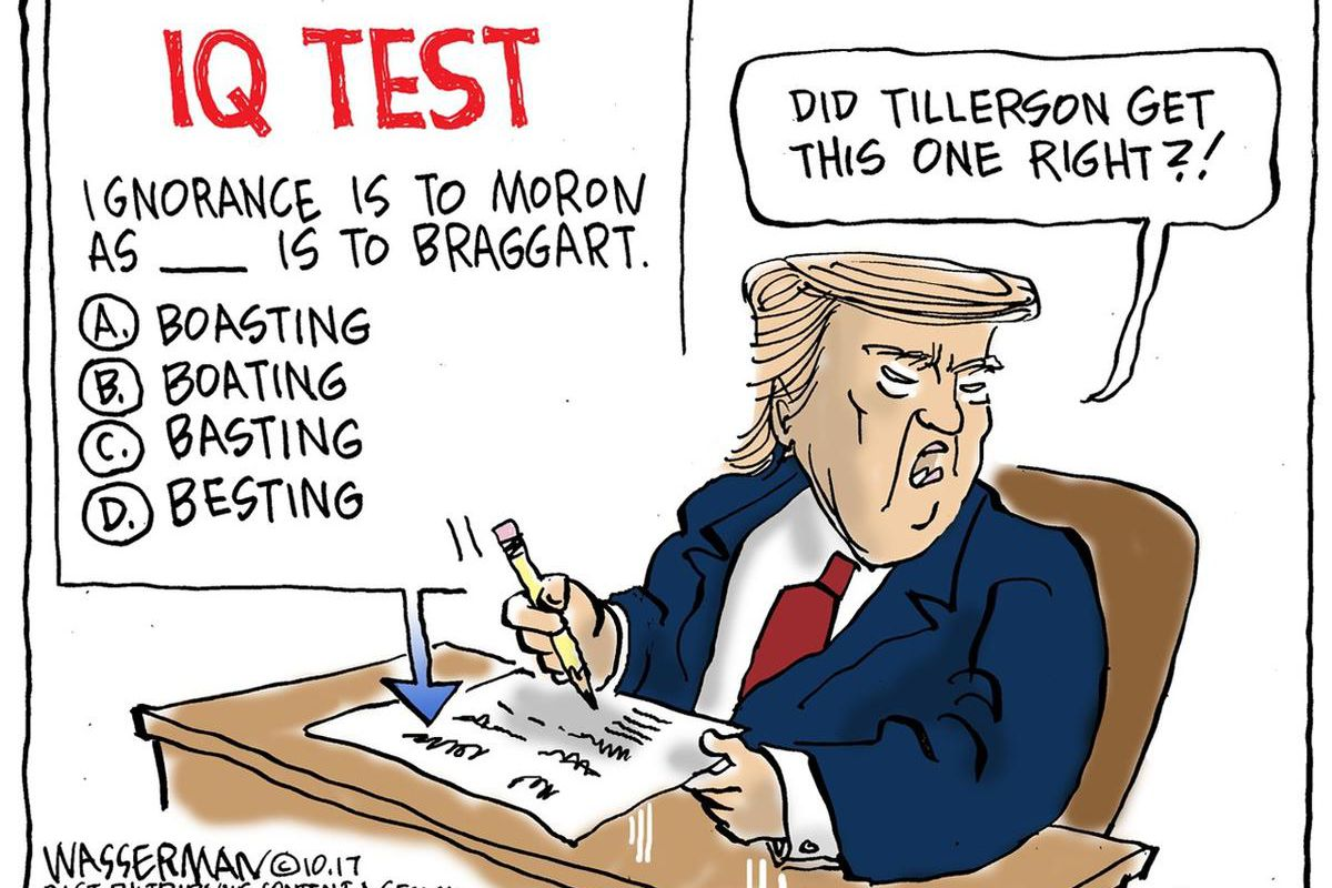 13 Political Cartoons On Trump Tillerson And Other Current Events Deseret News