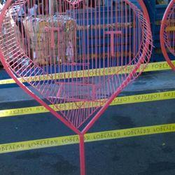 Big red birdcage, $75