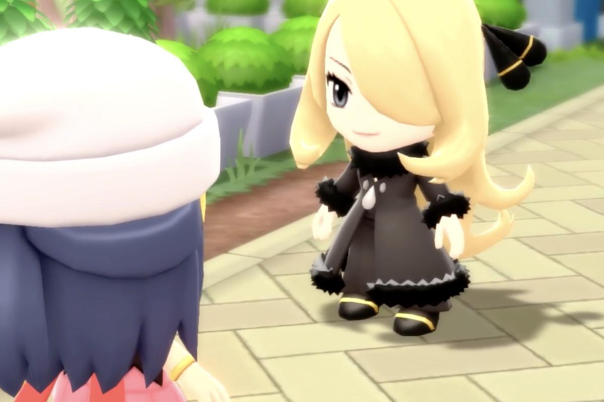 chibi Cynthia in the Pokemon diamond and pearl remakes.