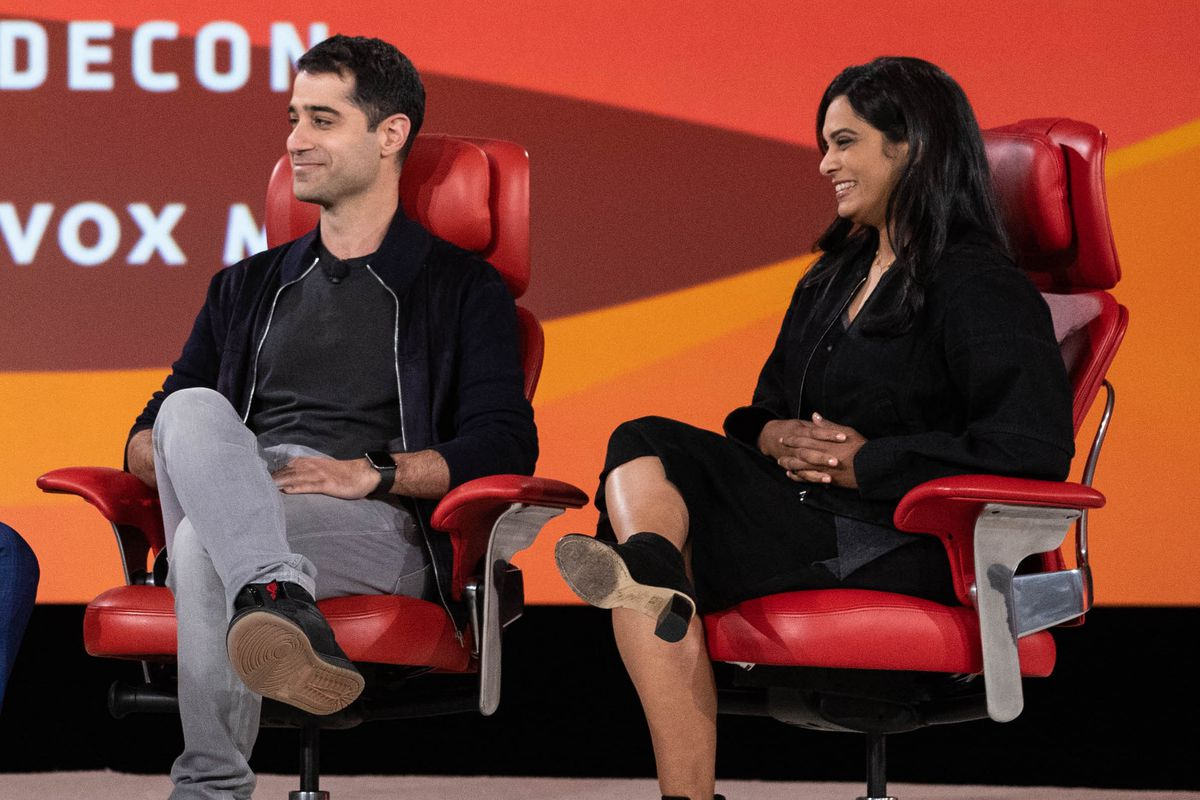 Twitter product lead Kayvon Beykpour and trust and safety lead Vijaya Gadde.