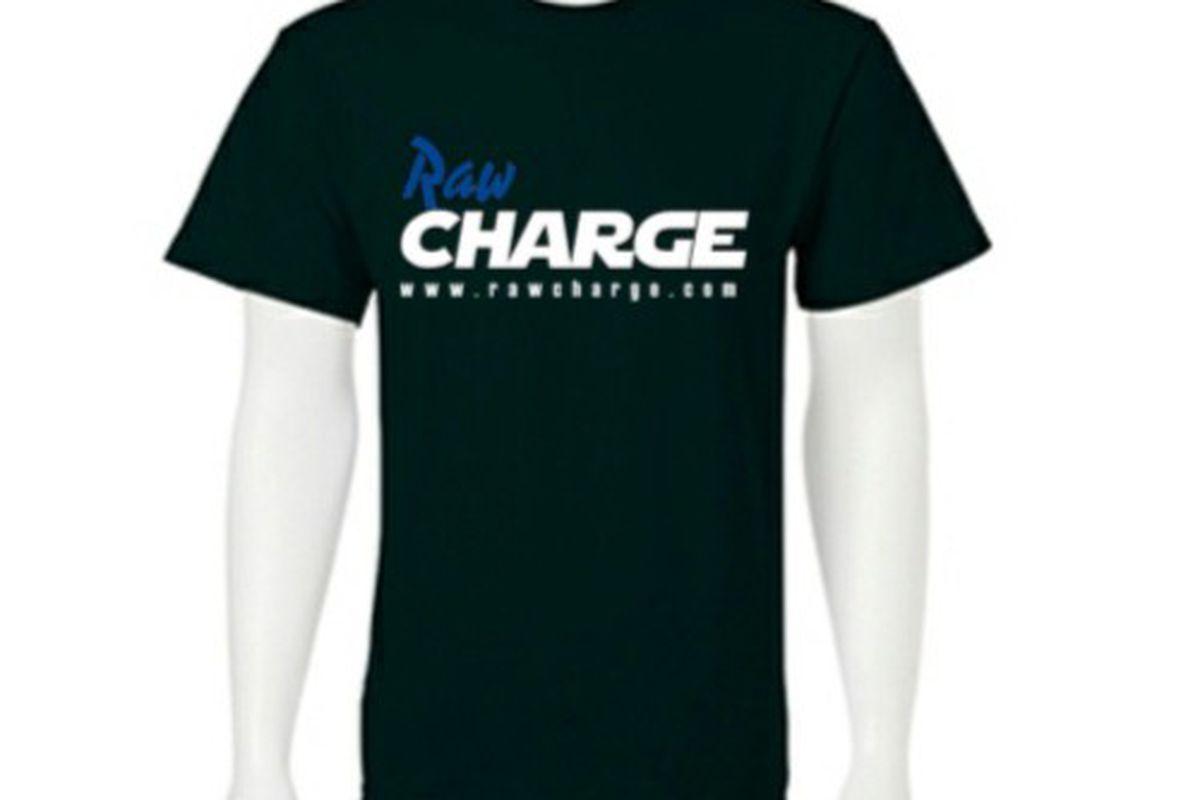 "Raw Charge T-shirt <a href=""http://custom.gamedaydepot.com/sbnation/Black-Raw_Charge_Logo_Tee-by-Gildan/SKU-5000_Black_Raw_Charge_logo_Tee/162952-1727955"" target=""new"">available through Gamedaydepot.com</a>"