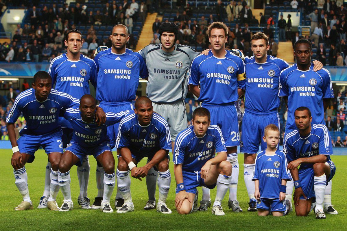 Chelsea starting XI against Rosenborg in September 2007