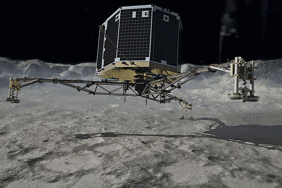 A rendering of Philae's landing.
