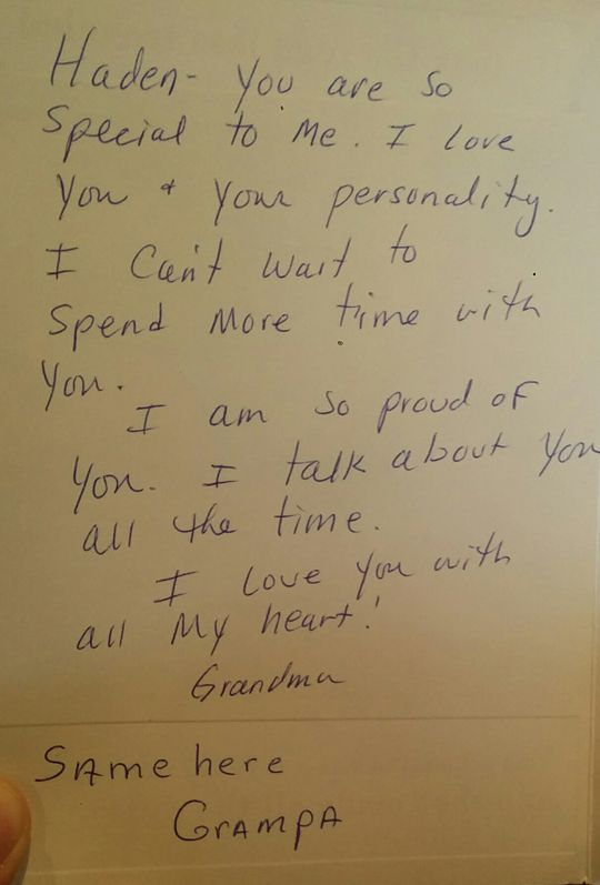 Amazing Grandpa Gives Masterclass In Birthday Card Writing Funny Or Die Personalised Birthday Cards Rectzonderlifede